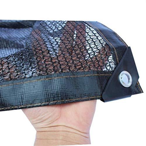 KUYUC 40% Schattierungsnetz Schattentuch für Gewächshaus, Schattiernetz Sonnenschutz mit Ösen, Sonnenschutznetz für Außenbereich Pflanzenschutz (Color : Black, Size : 2x4M/6x13FT)