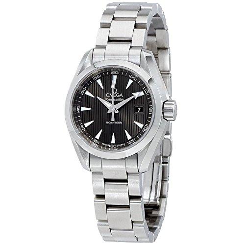 Omega Seamaster Aqua Terra Reloj de acero inoxidable con esfera gris de teca 23110306006001