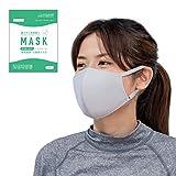 RINNE(リンネ) [ライトグレー,小さめ] マスク 水着素材 3枚入り 洗える ドイツSilverPlus 銀イオン抗菌加工 日本国内検査済 ドーム形状 調整式耳掛け