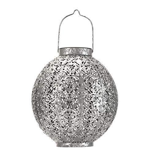 Pauleen 48069 Sunshine Aura Solar-Laterne marokkanisch Silber für außen-Balkon oder Garten, Metall, 0.005 W