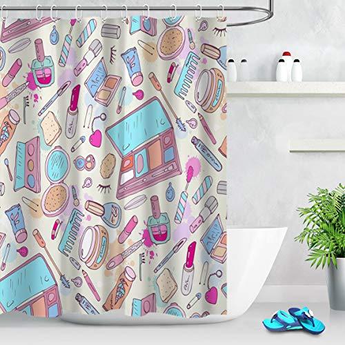 123456789 Badkamer waterdicht Makeup Tools cosmetische mode douchegordijn haken mat.-nr.