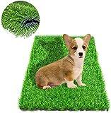 Fortune Star Erba artificiale Tappetino per cani e stuoia di paglia Tappeto per interni ed esterni Fori di scarico Erba finta Cucciolo Prato WC Patio Decorazione del prato