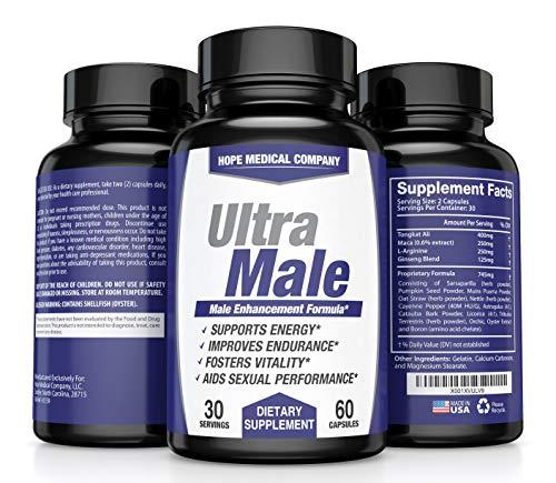HMC - Ultra Male Dietary Supplement Male Enhancement Formula, 30 servings, 60 Caps
