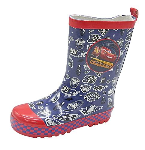 Kinder Gummistiefel Cars Regenstiefel Schlupfstiefel Stiefel Regen Schuhe Navy (numeric_31)