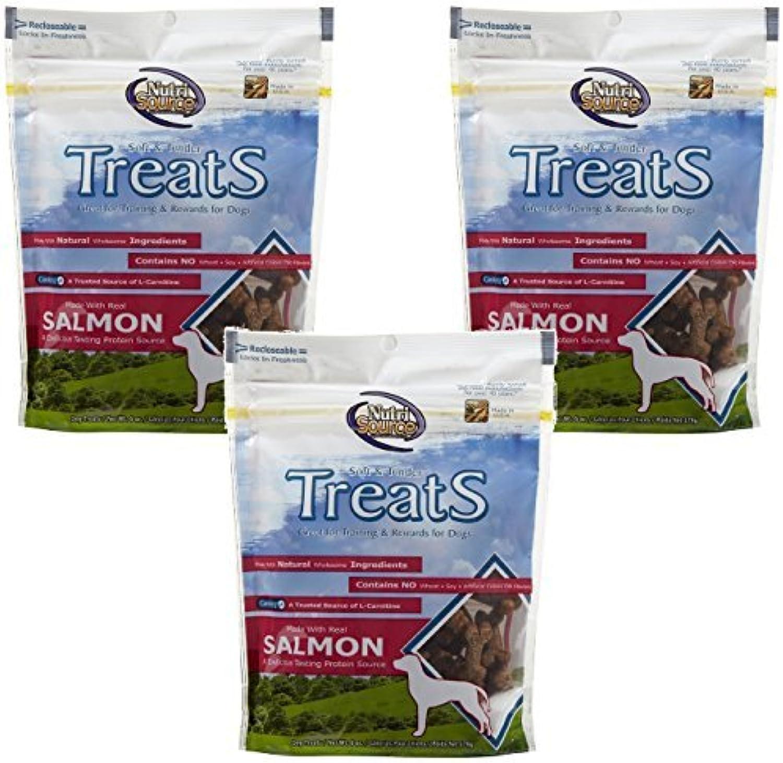 Nutri Source Soft Tender Dog Treat Flavor  Salmon 6oz by NutriSource