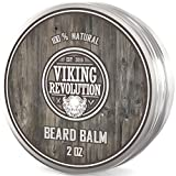 Viking Revolution Beard Balm - All Natural Grooming Treatment with...