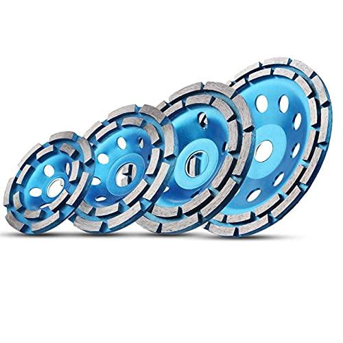 Muela de molienda de diamante 100/115/125/180 mm Disco de molienda de diamante Abrasivos Herramientas de hormigón Ruedas de corte de metal Sierra de copa (diámetro exterior: 180 mm)
