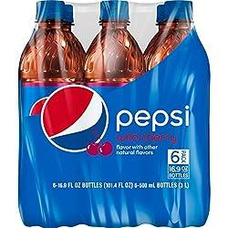 Pepsi, Wild Cherry, Bottles (6 Count, 16.9 Fl Oz Each)