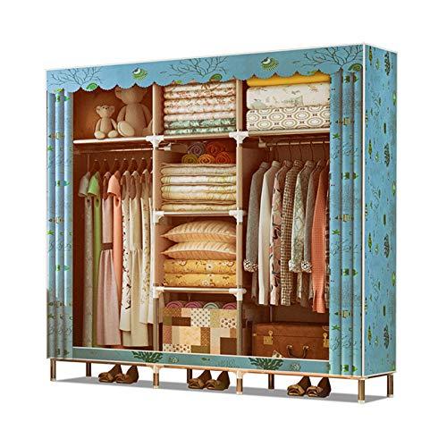KDOAE Almacenamiento de Armario Guardarropa almacenaje Closet Ropa portátil armarios guardarropa Armario Organizador Estante Vestuario Ropa Muebles de Dormitorio (Color : D3, Size : 165x46x168cm)