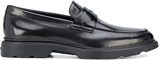 Luxury Fashion | Hogan Men HXM3930X2316Q6B999 Black Leather Loafers | Spring-summer 20
