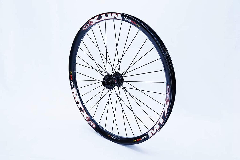NBPower Ebike マッチングフロントホイール ハブ付き 20mm 110ドロップアウト サンリングMTXリム 自転車ホイール用 24インチまたは26インチフロントホイール NOVATEハブ付き