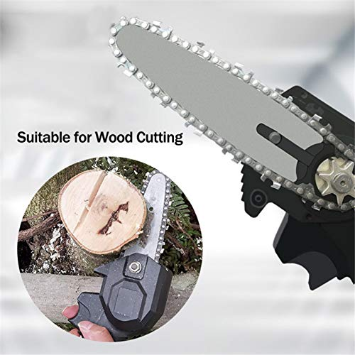 Wendysy Mini Chainsaw Electric Chain Saws, 24V Cordless Protable Chainsaw One-Hand 0.7kg Lightweight, Pruning Shears Chainsaw for Tree Branch Wood Cutting (Black)