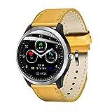 SVUZU Reloj Inteligente para Hombres IP67 Impermeable Monitor de frecuencia cardíaca Pulsera de presión Arterial Rastreador de Ejercicios Reloj Inteligente (Color: Real)