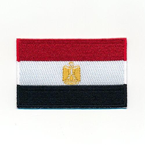 40 x 25 mm Ägypten Flagge Kairo Alexandria Giseh Flag Aufnäher Aufbügler 1041 A