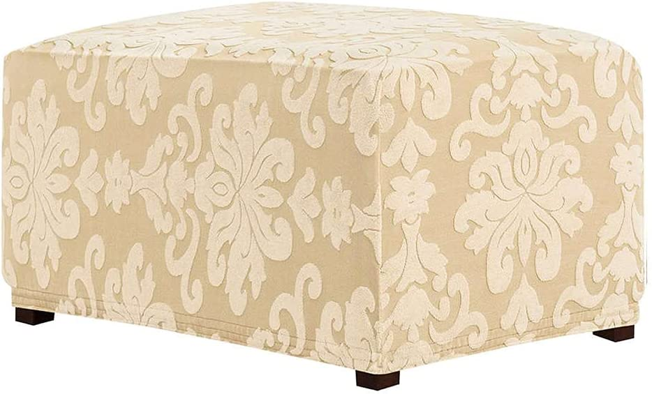Ottoman Portland Mall Slipcovers Rectangle Stretch Purchase Protector Footstool Foldab