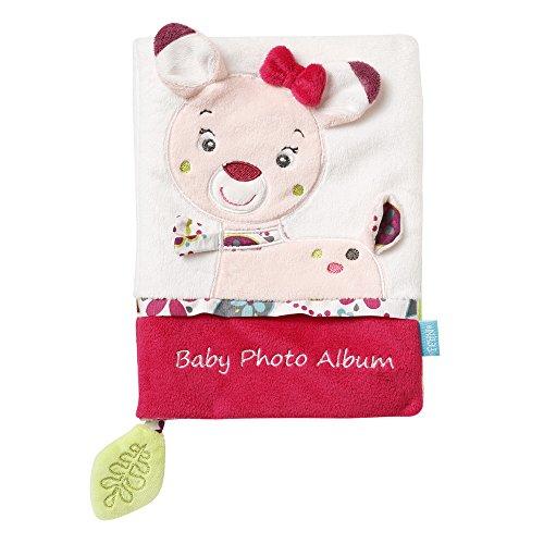 Fehn 076912 Fotobuch Rehkitz – Weiches Soft-Bilderbuch für 6 Fotos á 10x15 cm – Spielerisch Gesichter merken und Namen lernen für Babys und Kleinkinder ab 0+ Monaten – Maße: 20x15cm