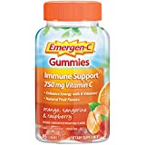 Emergen-C 750mg Vitamin C Gummies for Adults, Immunity Gummies with B Vitamins, Gluten Free, Orange, Tangerine and Raspberry Flavors - 45 Count