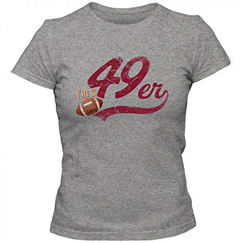 I'm a 49er #1 Premium T-Shirt FootballShirt Play Offs USA Frauen Shirt, Farbe:Graumeliert (Grey Melange L191);Größe:M