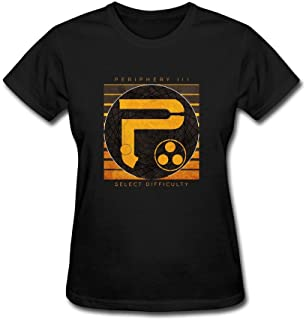 XIULUAN Women's Periphery III Select Difficulty Logo Periphery Band T-Shirt Short Sleeve