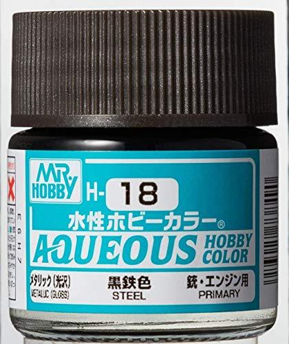 水性ホビーカラー 黒鉄色 10ml H18