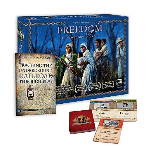 Academy Games Freedom - The Underground Railroad with Teaching The Underground Railroad Through Play (Teacher's Edition Bundle)