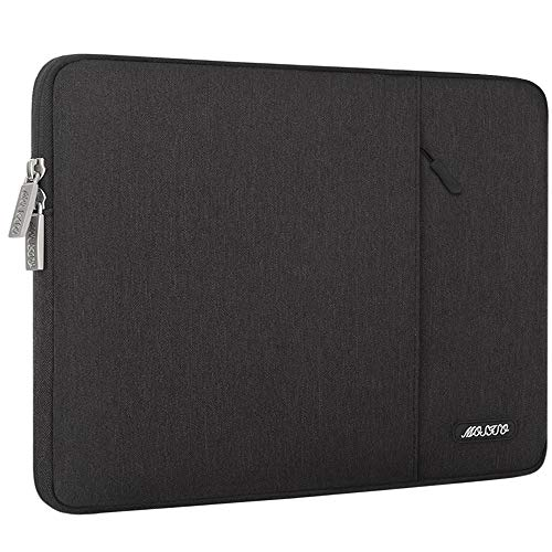 MOSISO Laptophülle Kompatibel mit 2019 MacBook Pro 16 Zoll mit Touch Bar A2141, 15-15,4 Zoll MacBook Pro Retina 2012-2015, Polyester Vertikale Stil Sleeve Hülle Laptoptasche, Schwarz