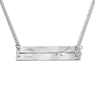 Best white gold bar necklace Reviews