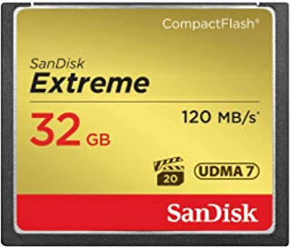 SanDisk Extreme 32GB CompactFlash Memory Card UDMA 7 Speed Up To 120MB/s 2-Pack