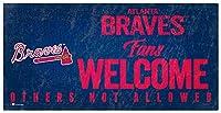 MLB アトランタ・ブレイブス ユニセックス アトランタ・ブレイブス ファン ウェルカムサイン チームカラー 6 x 12インチ