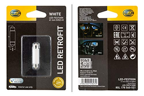 HELLA 8GL 178 560-571 Glühlampe - LED - LED Retrofit - 12V/1W - Blisterpack - Menge: 1