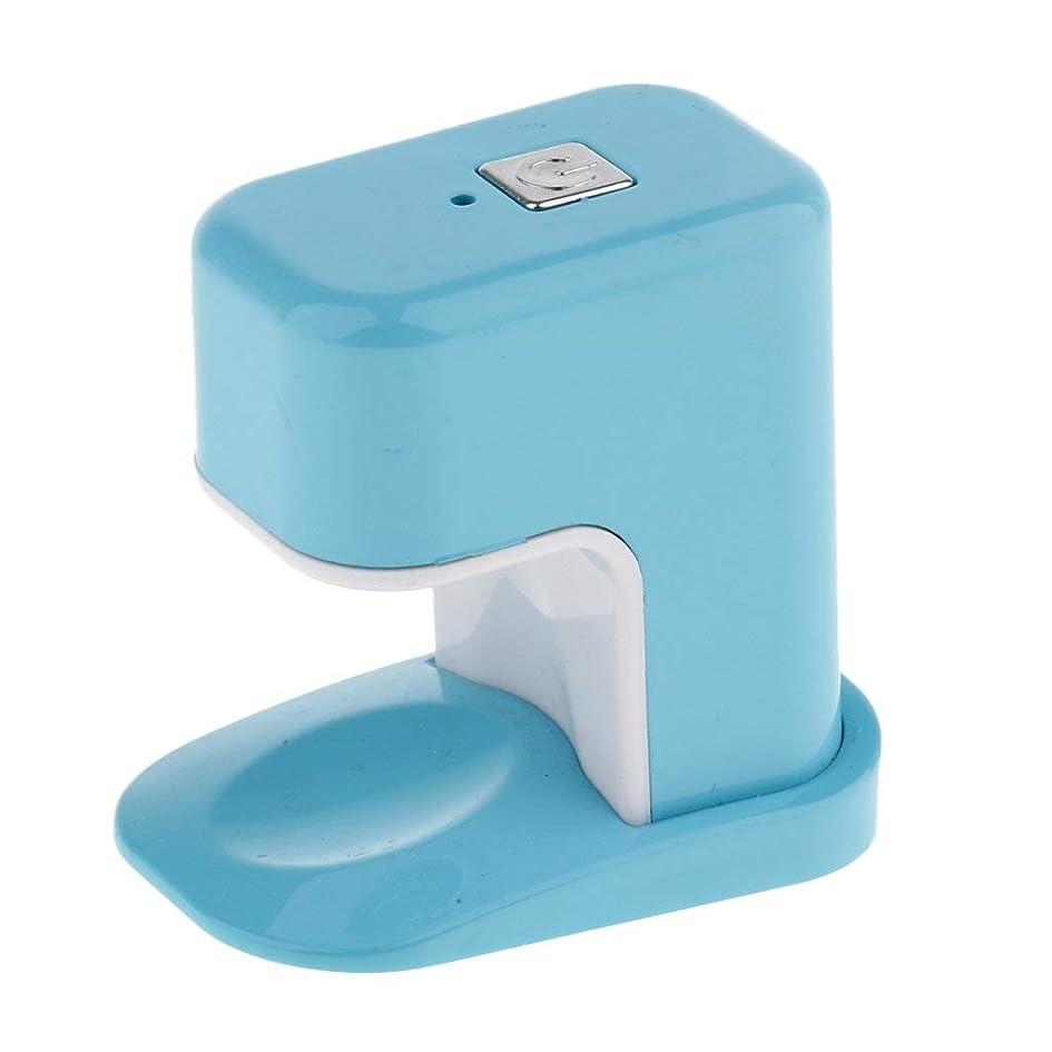 写真腹メタンPaick ネイルドライヤー 3W LED電球 USBケーブル UV マニキュアドライヤー ニポータブル単一指ネイルアートのLED 3色選べ - 青