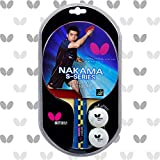 Butterfly Nakama S4 Table Tennis Racket - Carbon Fiber Power With Surprising Control - Nakama Series -...