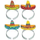 Fiesta Cinco De Mayo Plastic Sombrero Headbands, 8 Ct. | Party Costume