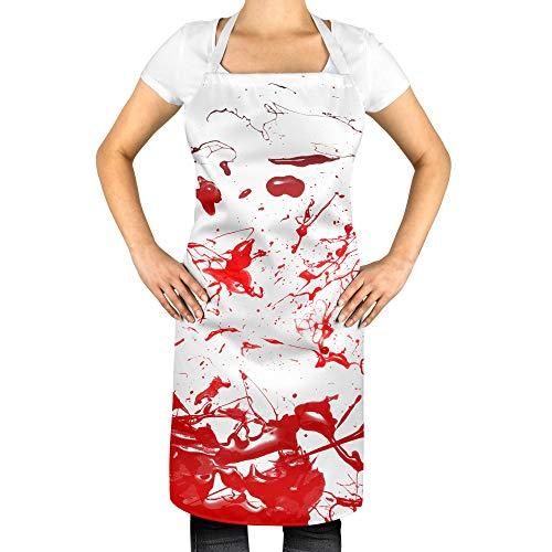 Tr73ans Bloed Splatter Schort Halloween Kostuum Bakken Schort Koele Halloween Kostuum Idee Enge Bloedige Schort Halloween Schort JA316