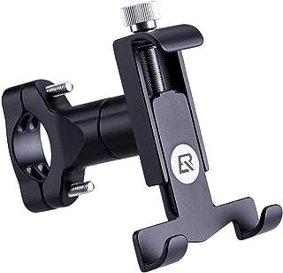 RockBros Bike Phone Mount Compatible with iPhone x 8 Plus 7 6 Motorcycle Motorbike Bicycle Handlebar Phone Holder Cradle Clamp Universal 360°Rotatable Aluminum Bracket