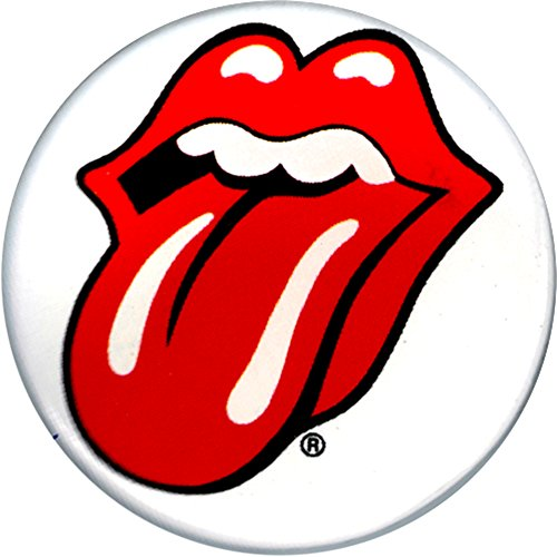 "Rolling Stones - Tongue Logo on White - 1.25"" Round Button"