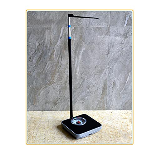 Yeanee Height and Weight Scale/Medical Scale/Mechanical Scale/High Precision Measurement/Classic Design/Easy to Read Analog Dial/Suitable for All Families (71-190cm, 120kg)