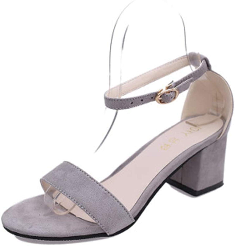 Duduxiaomaibu Women's Open Toe Cut Out Chunky Heel Sandal