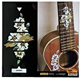 Fretboard Markers Inlay Stickers Decals for Concert Ukuleles - Hibiscus (10th & 12th Frets)
