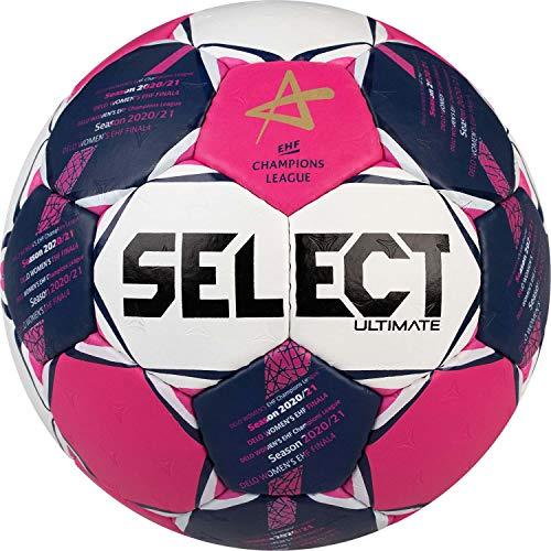 SELECT Unisex – Pallone da pallamano Ultimate CL, rosa, bianco, blu, 2