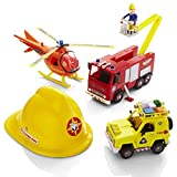 Fireman Sam Rescue Vehicle set de juego con el casco