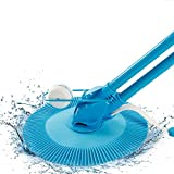 Automatic Suction Vacuum-Generic Pool Cleaner with Quiet and High Speed for Swimming Pool with Skimmer (01 Blue)