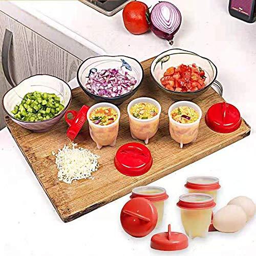 Yoshotech Cocedor de huevos de silicona, antiadherente, con soporte, búsqueda rápida para accesorios de cocina