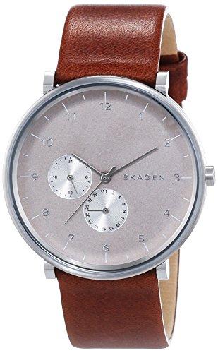 Skagen Herren-Armbanduhr XL Analog Quarz Leder SKW6168