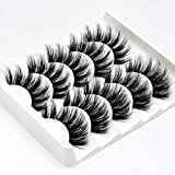InBrave Fake Eyelashes Dramatic Look, 3D Mink False Lashes 5 Pairs, Faux Mink Eyelashes High Volume, Fluffy Lashes for Women Fake Lashes Resuable Bulk Wholesale