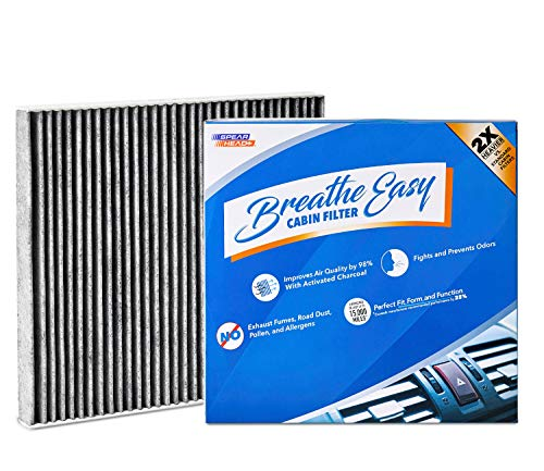 Spearhead Premium Breathe Easy Cabin Filter, Up to 25% Longer Life w/Activated Carbon (BE-183)