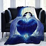 PNNUO Flannel Fleece Blanket-Penguin Love Blankets and Throws,Cozy & Warm Plush Blanket for Couch Bed Or Men Women Kids