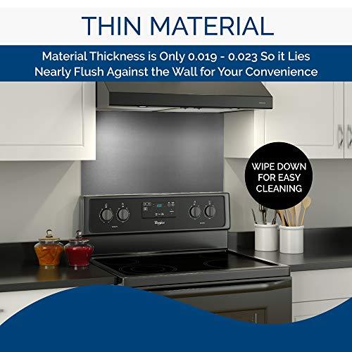 Broan-NuTone SP3004 Reversible Stainless Steel Backsplash Range Hood Wall Shield for Kitchen, 24 by 30-Inch