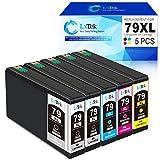 LxTek 79XL Ersatz Kompatibel für Epson 79XL 79 XL Druckerpatronen für Epson Workforce Pro WF-5620DWF WF-4630DWF WF-4640DTWF WF-5690DWF WF-5110DW WF-5190DW (2 Noir, 1 Cyan, 1 Magenta, 1 Jaune)