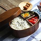 YJZQ - Cajas para bento japonés, portacomidas de madera natural, caja de almuerzo, recipiente...